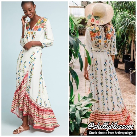 eaa23d1a5bb8 Anthropologie Dresses | Nwt Farm Rio Springtime Wrap Dress | Poshmark